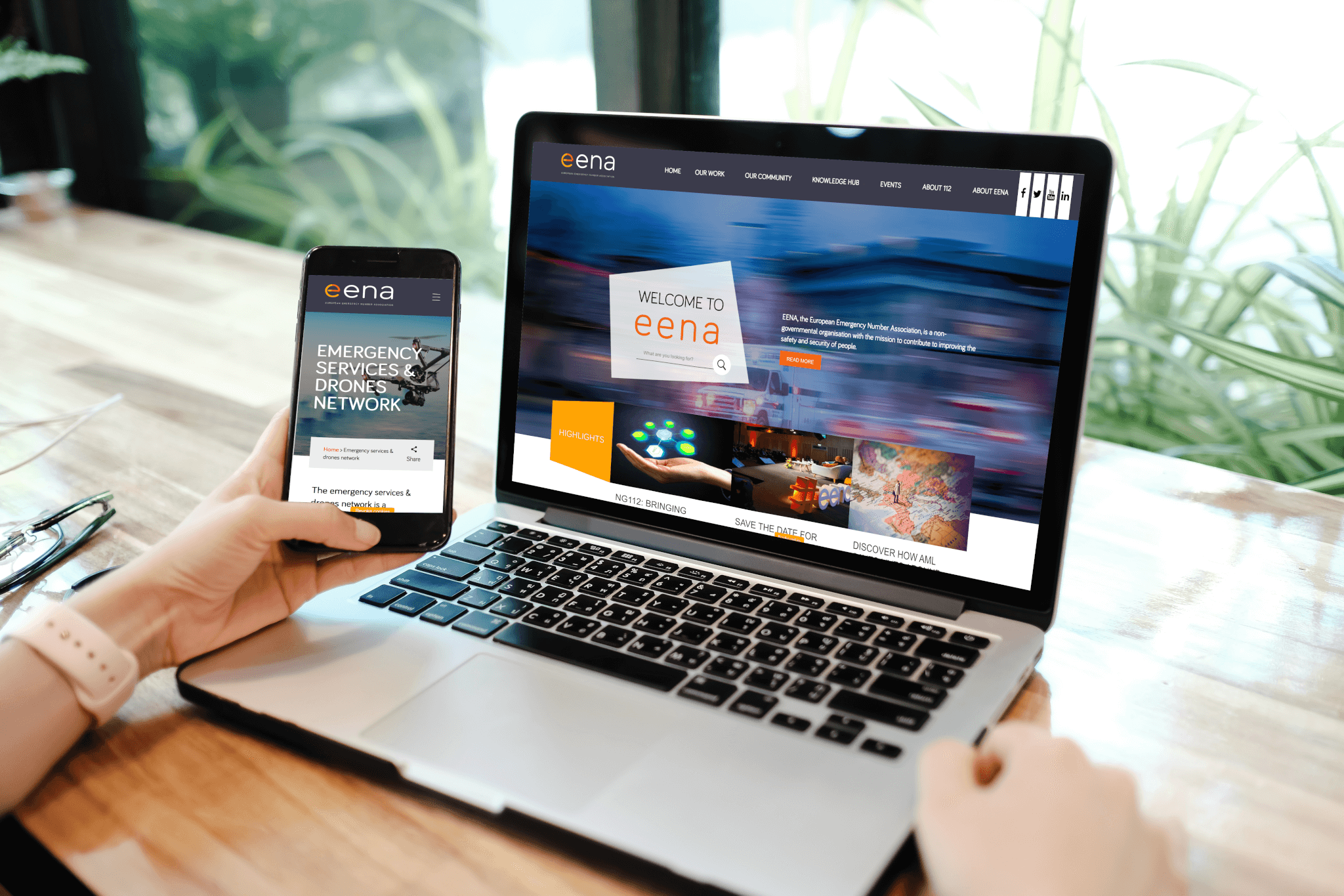 EENA website 2019 - Fastlane Communication Agency